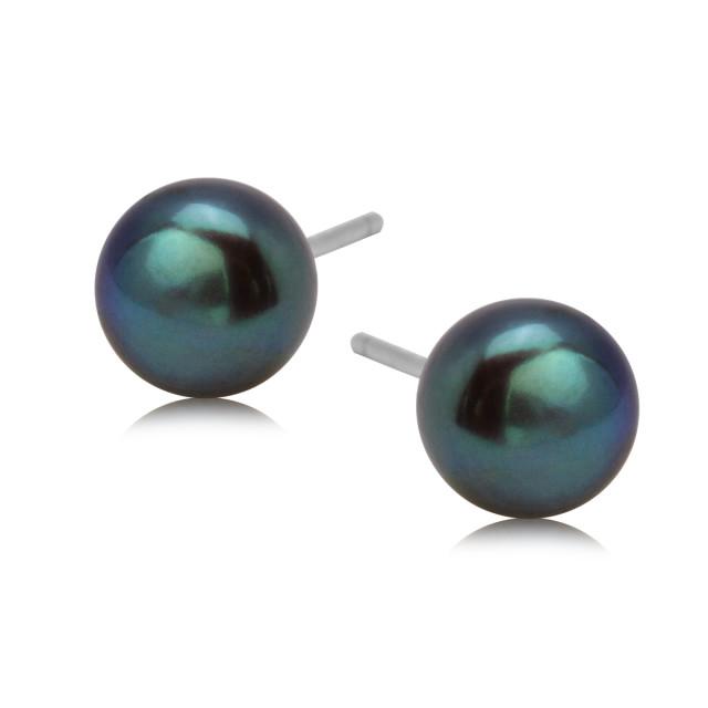 Zdjęcie Srebrne kolczyki z perłą #1