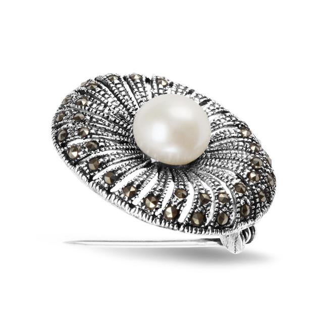 Zdjęcie Kolekcja Perla srebrna broszka #1