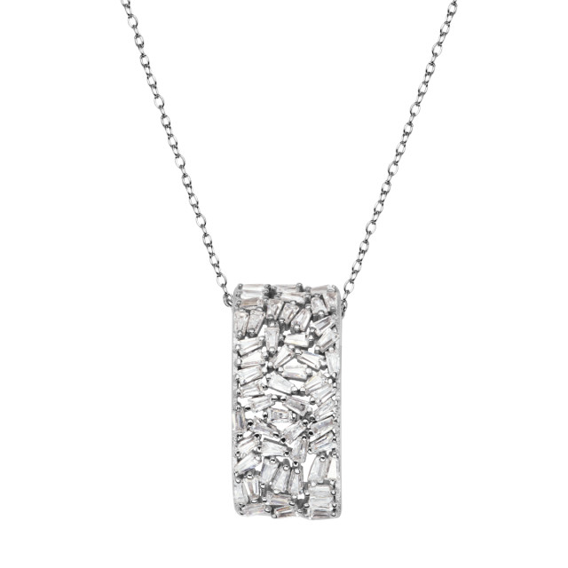 Zdjęcie Kolekcja Grazia srebrny naszyjnik z cyrkonią #1