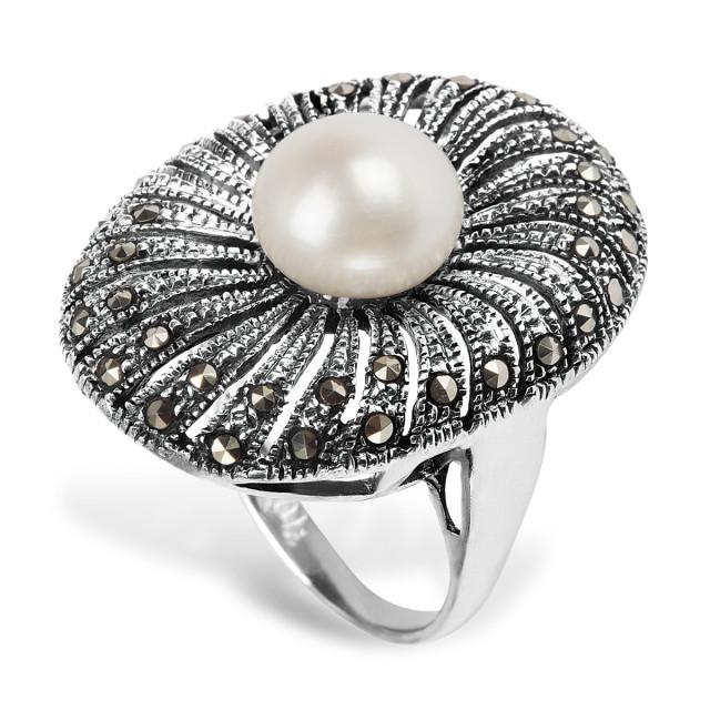 Zdjęcie Kolekcja Perla srebrny pierścionek #1
