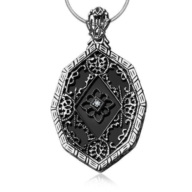 Zdjęcie Srebrna zawieszka z diamentem #1