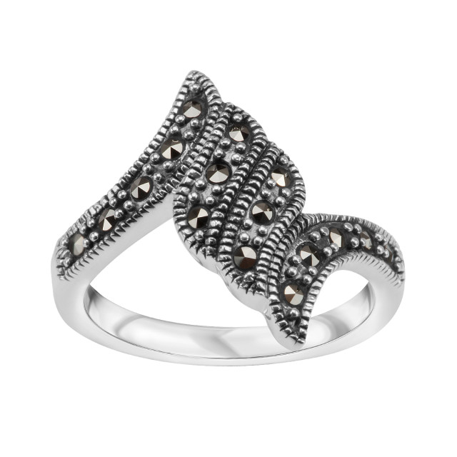 Zdjęcie Srebrny pierścionek z markazytami #1