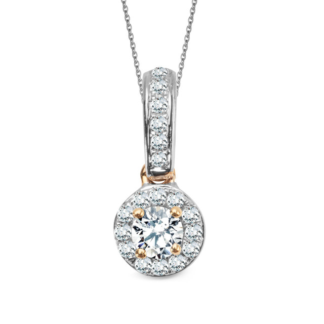 Zdjęcie Złota zawieszka z diamentami #1