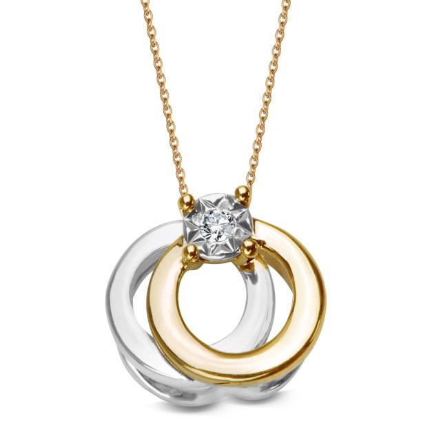 Zdjęcie Złota zawieszka z diamentem #1