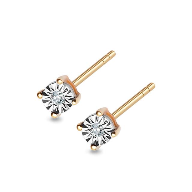 Zdjęcie Złote kolczyki z diamentami #1