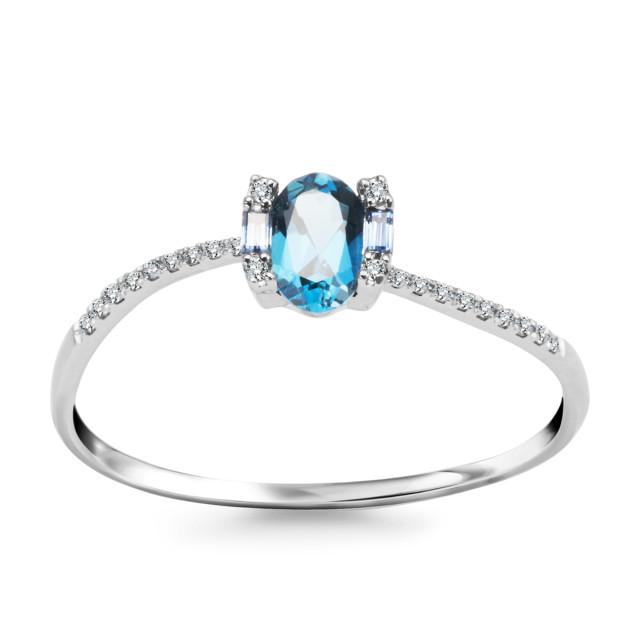 Zdjęcie Złoty pierścionek z diamentami #1