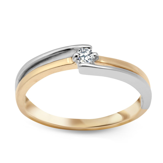 Zdjęcie Złoty pierścionek z diamentem #1