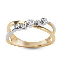 Zdjęcie Złoty pierścionek z diamentem #38