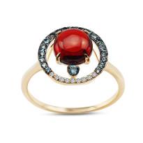 Zdjęcie Złoty pierścionek z diamentami #26