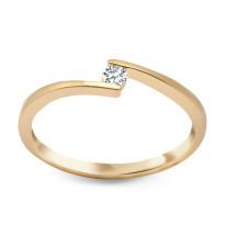 Złoty pierścionek z diamentem