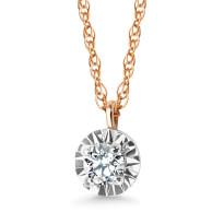 Złoty naszyjnik z diamentem