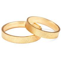 Zdjęcie Złote obrączki klasyczne, piaskowane (szerokość 4 mm) #30
