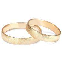 Zdjęcie Złote obrączki klasyczne, piaskowane (szerokość 5 mm) #26