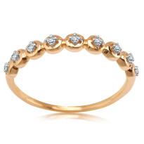 Zdjęcie Złoty pierścionek z diamentami #41