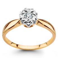 Zdjęcie Złoty pierścionek z diamentami #38