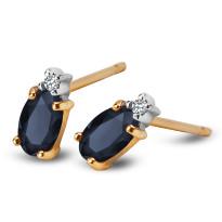 Kolczyki z diamentami i szafirami