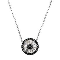 Zdjęcie Kolekcja Grazia srebrny naszyjnik z cyrkonią #10