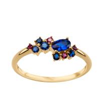 Zdjęcie Kolekcja Lucia złoty pierścionek z cyrkonią #1