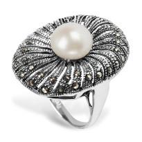 Zdjęcie Kolekcja Perla srebrny pierścionek #32