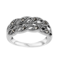 Srebrny pierścionek z markazytami