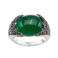 Zdjęcie Srebrny pierścionek z markazytami #5