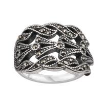 Zdjęcie Srebrny pierścionek z markazytami #28
