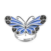 Zdjęcie Tajemniczy Ogród srebrny pierścionek #16