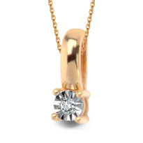 Złota zawieszka z diamentem