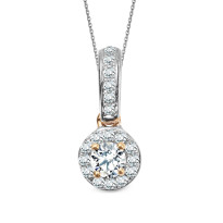 Zdjęcie Złota zawieszka z diamentami #2
