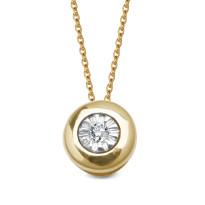 Zdjęcie Złota zawieszka z diamentem #39