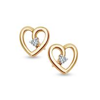 Zdjęcie Złote kolczyki z diamentami #17