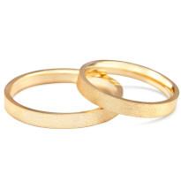 Zdjęcie Złote obrączki klasyczne, piaskowane (szerokość 3 mm) #12