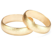 Zdjęcie Złote obrączki klasyczne, piaskowane (szerokość 6 mm)  #22