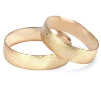 Zdjęcie Złote obrączki klasyczne, piaskowane (szerokość 6 mm)  #16