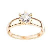 Zdjęcie Złoty pierścionek z cyrkonią #1