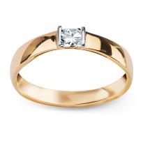 Zdjęcie Złoty pierścionek z cyrkonią #5