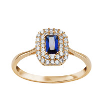 Zdjęcie Złoty pierścionek z cyrkoniami #48
