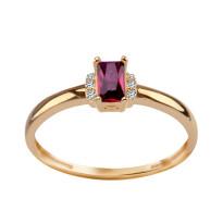 Zdjęcie Złoty pierścionek z cyrkoniami #14