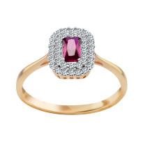 Zdjęcie Złoty pierścionek z cyrkoniami #11