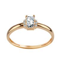 Zdjęcie Złoty pierścionek z cyrkoniami #6