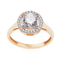 Zdjęcie Złoty pierścionek z cyrkoniami #7