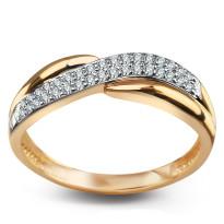 Zdjęcie Złoty pierścionek z cyrkoniami #12