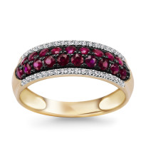 Zdjęcie Złoty pierścionek z diamentami #15