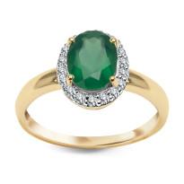 Zdjęcie Złoty pierścionek z diamentami #19