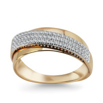 Zdjęcie Złoty pierścionek z diamentami #27