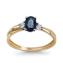 Zdjęcie Złoty pierścionek z diamentami #47