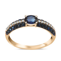 Zdjęcie Złoty pierścionek z diamentami #11