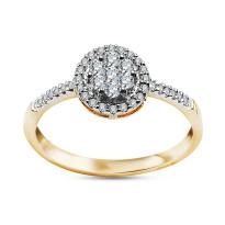 Zdjęcie Złoty pierścionek z diamentami #36