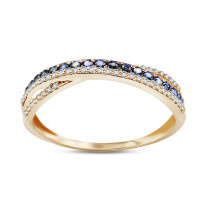 Zdjęcie Złoty pierścionek z diamentami #14