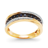 Zdjęcie Złoty pierścionek z diamentami #21